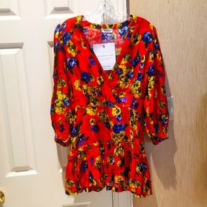 Attico Ruffled Floral Pansy Dress, gorgeous!
